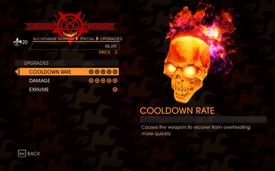 Gat out of Hell - Skull - Upgrades
