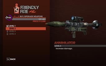 Annihilator RPG - Level 2 description