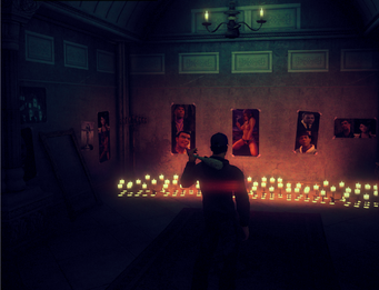 Stilwater Church - interior in Saints Row IV - shrine room