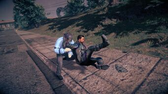 Combat - rear running attack in Saints Row IV - during