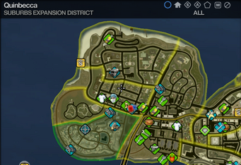 Map in Saints Row 2 - Suburbs Expansion - Quinbecca