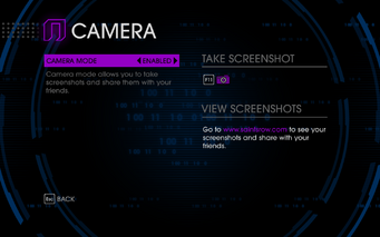 Saints Row IV - Camera mode enabled