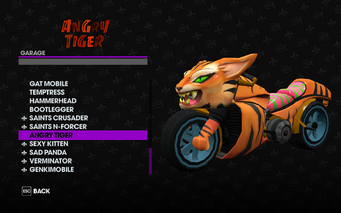 Angry Tiger in the Garage in Saints Row The Third