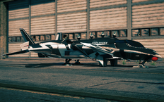 Naughty F-69 VTOL - front left parked