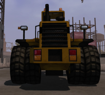 Bulldozer in Saints Row - rear