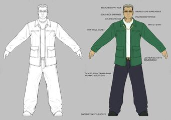 Johnny Gat Concept Art - labeled neutral pose