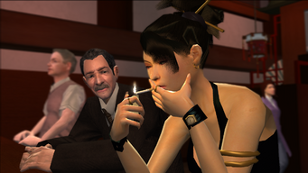 Guardian Angel - Lin lighting cigarette