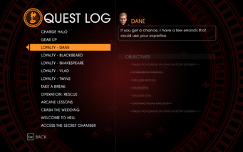 Gat out of Hell - Completed Quests - Loyalty - Dane