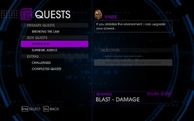 Quests Menu - Power Play