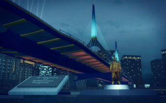 Athos Bay in Saints Row 2 - Richard Hughes memorial