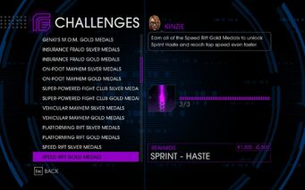 Challenge 25 Speed Rift Gold Medals