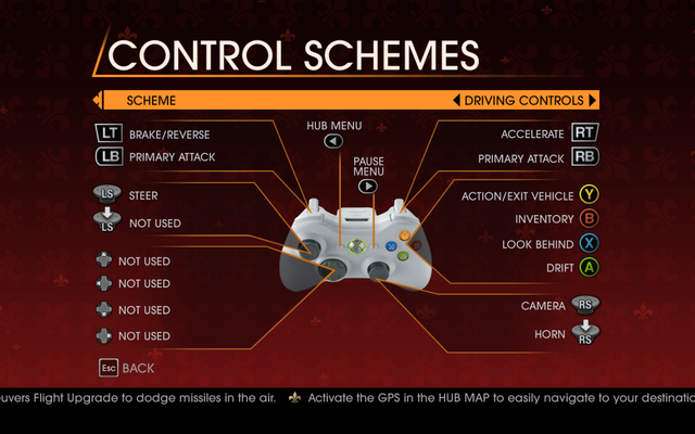 File:Saints Row Gat out of Hell - Main Menu - Options - Controls - Gamepad - Control Schemes - Driving Controls.png