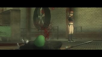 Eternal Sunshine - The Protagonist shooting Mr Sunshine on the ground