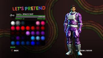 Let's Pretend promo with male Space Suit