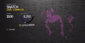 Style Bonus example in Saints Row 2