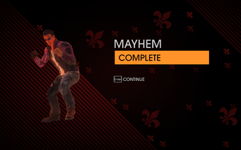 Gat out of Hell - Mayhem completion screen