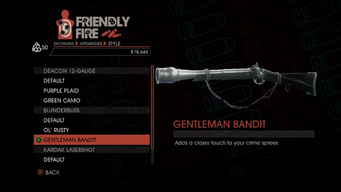 Weapon - Shotguns - Pump-Action Shotgun - Blunderbuss - Gentleman Bandit