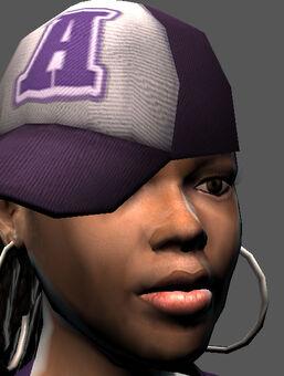 Saints Row character render - Aisha's face