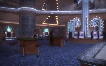 Poseidon's Palace interior with dealers