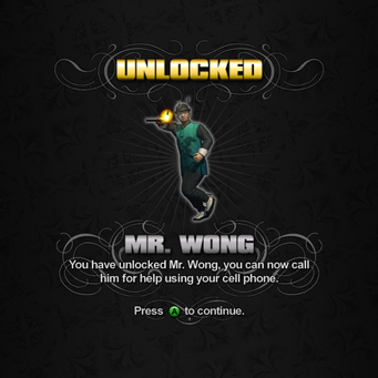Saints Row unlockable - Homies - Mr. Wong