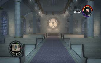 Saints Row Church - lower level facing entrance in Saints Row 2