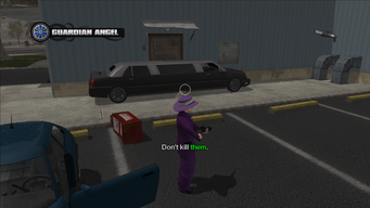 Guardian Angel - vehicle parked in front of the door used in cutscene