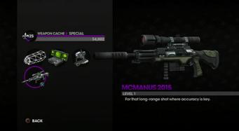 McManus 2015 weapon selection screen