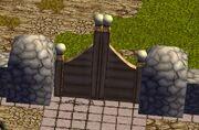 Stone hedge gate