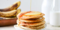 Vegan Pineapple Upside Down Banana Pancakes