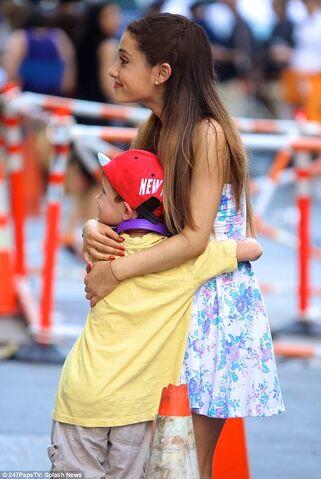 File:Ariana Grande hugging a young fan.jpg