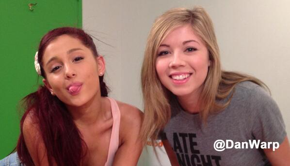 File:Jennette and Ariana on the set of Sam & Cat.jpg