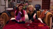 Sam and Cat sitting on the couch