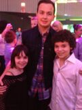 Cameron and his sister with Noah Munck at 2013 pre-KCA party