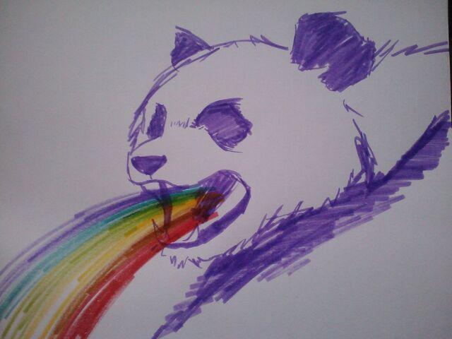File:Angry rainbow spewing purple panda of my dreams d by callofthemastodon-d4mnyi8.jpg