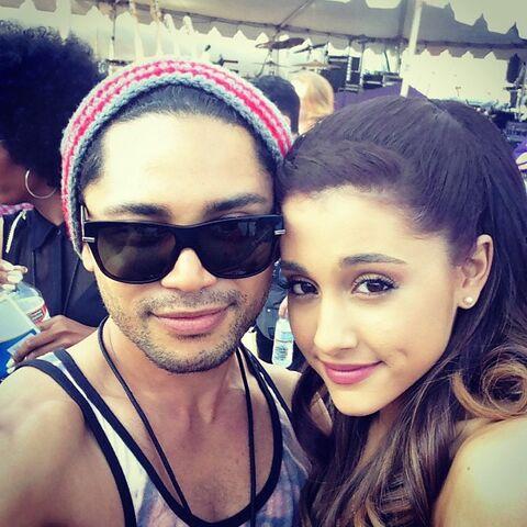 File:Isaac Boots and Ariana backstage at Wango Tango 2013.jpg