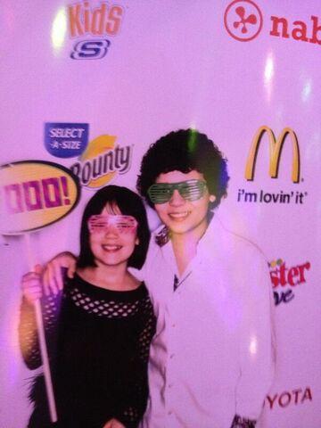 File:Cameron and his sister at 2013 pre-KCA party.jpg