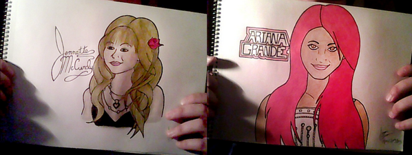 File:Jennette and Ariana fan art.png