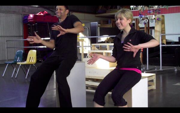 File:Lane and Jennette in tap rehearsal for iWas a Pageant Girl.jpg
