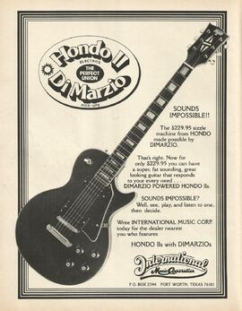 78 hondo II ad June 1978 Guitar Player