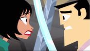 Ashi vs Jack in ruin