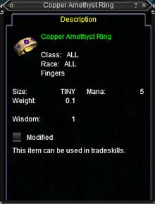 Copper Amethyst Ring
