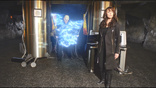 3x20 John and Helen at Adam's lab with open time rift