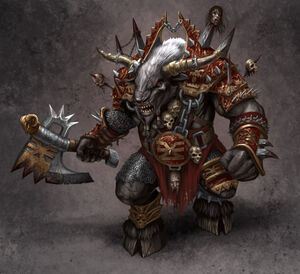 640x584 5002 Doom Bull 2d illustration creautre fantasy barbarian warrior picture image digital art