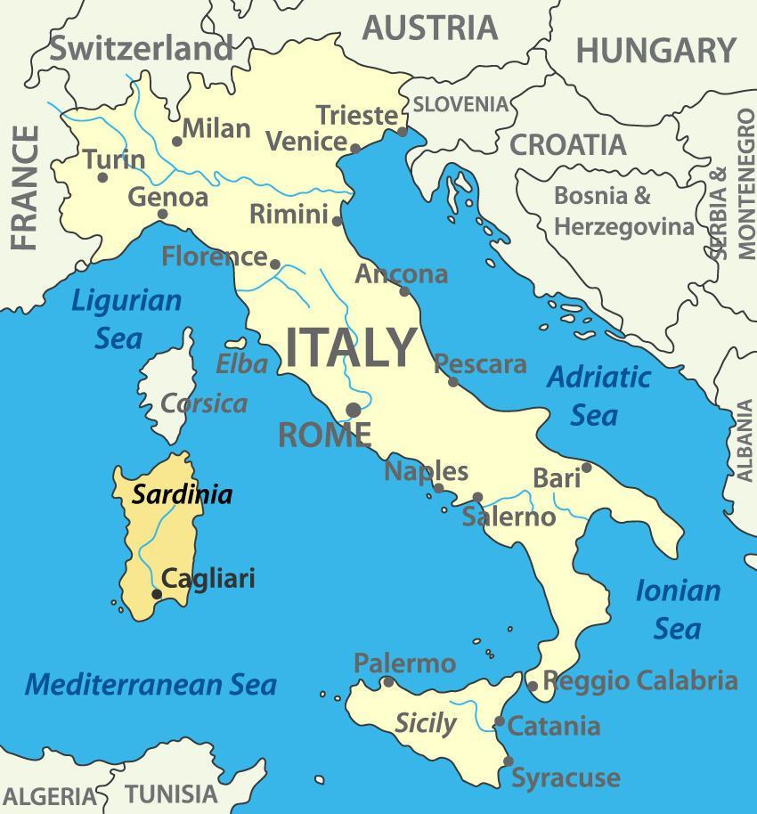 Sardinia Italy Map Sardinia Italy Map | PAMELASSMUS