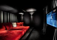 Black and Red Media Room