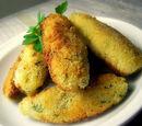 Croquettes de poisson sauce au concombre