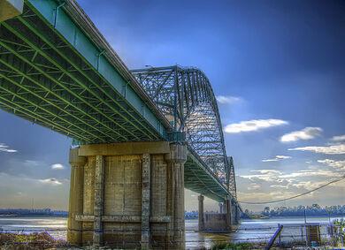 Hernando de Soto Bridge HDR