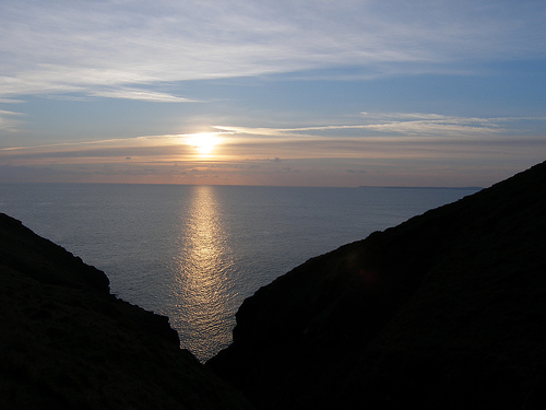 File:Sunset near Manorbier.jpg