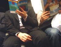 Sudoku on the Waterloo & City Line