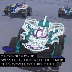Bringing up the rear are the final three racers, which includes are host <a href=